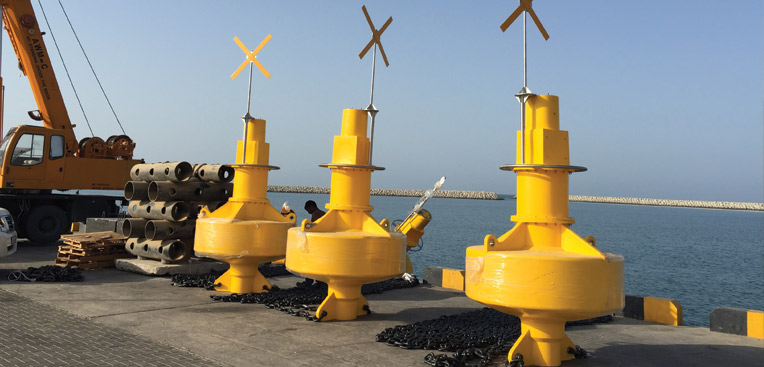 Navigation Buoys in Sohar region
